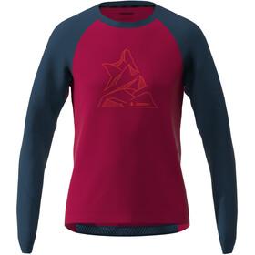 Zimtstern PureFlowz Langarmshirt Herren rot/blau